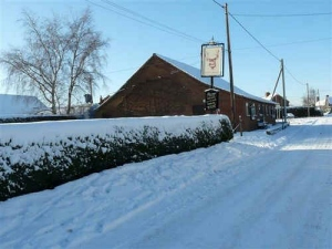Bodham Village Hall in the snow 2009